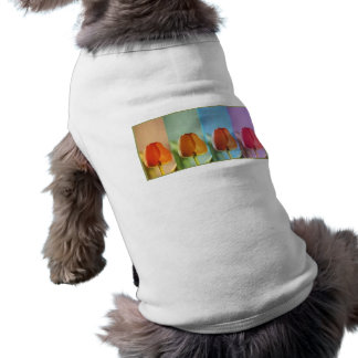 Coleção da mostra dos botões - 1 camisa sem mangas para cachorro
