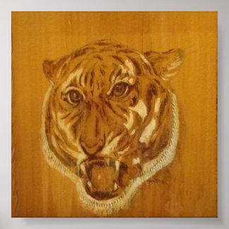Coleção da natureza - retrato do tigre poster