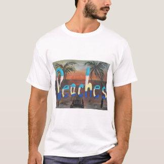 Coleção das praias tshirt