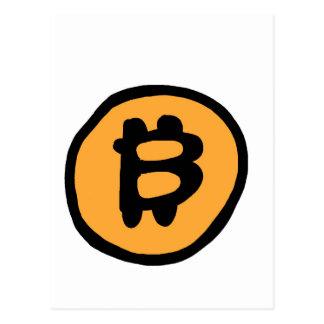 coleção do bitcoin cartão postal
