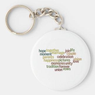 Coleção do casamento das palavras (Wordle Wedding) Chaveiro