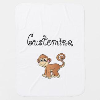 Coleção do macaco cobertores de bebe