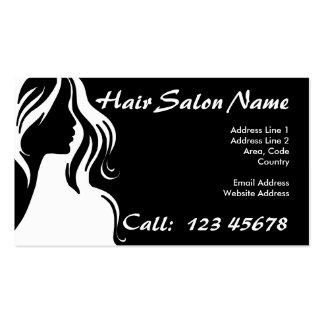 Coleção do tema do negócio do cabeleireiro cartão de visita
