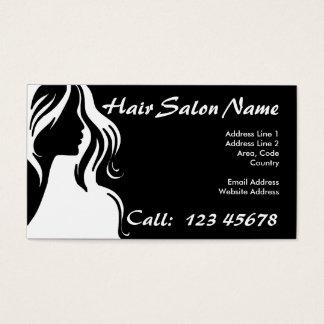 Coleção do tema do negócio do cabeleireiro cartão de visitas