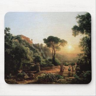 Coleção do vintage - pintura de paisagem mousepad