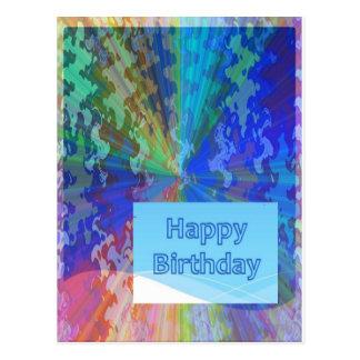 Coleção surpreendente do feliz aniversario cartao postal