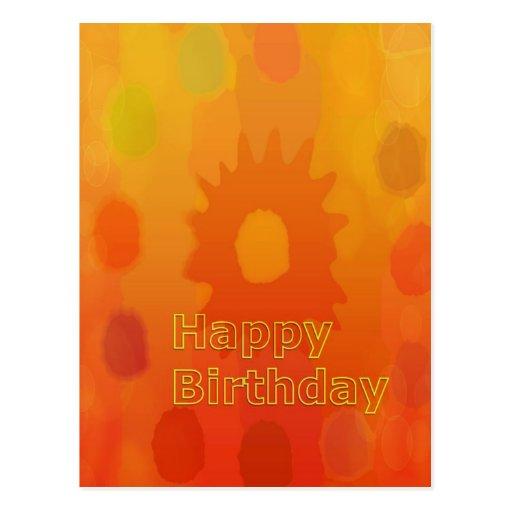 Coleção surpreendente do feliz aniversario cartões postais