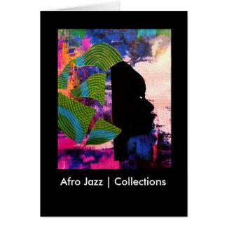 Coleções do jazz | do Afro Cartão Comemorativo