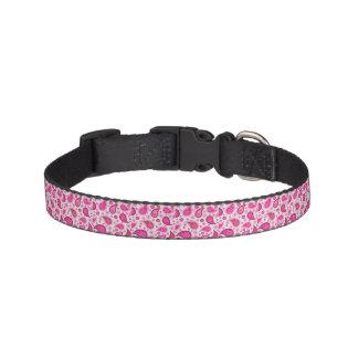 Coleira de cão cor-de-rosa de Paisley