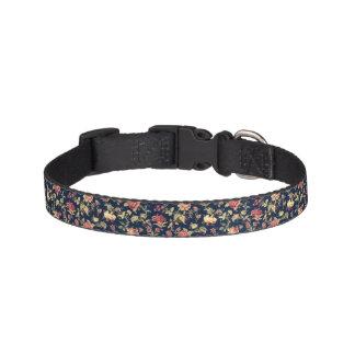 Coleira de cão floral escura