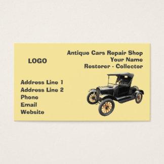 Coletor 2 da oficina de reparações dos carros cartão de visitas