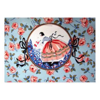 colhendo flores de imagem de menina cartão de visita grande