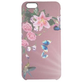 Colibris e flores capa para iPhone 6 plus clear