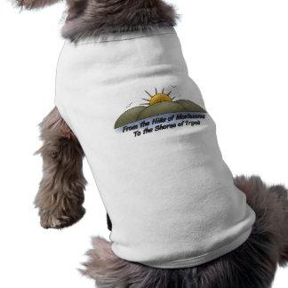 Colinas à camiseta de cão das costas roupa para caes