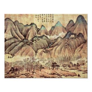 Colinas verdes e nuvens brancas por Kao K'O-Kung Convite