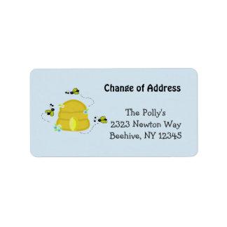Colmeia ocupada nosso endereço etiqueta de endereço