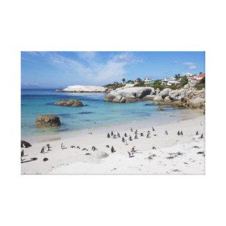 Colônia do pinguim no impressão das canvas da impressão em tela