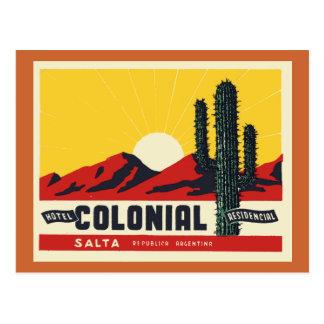 Colonial do hotel cartão postal