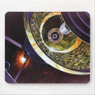 Colônias futuras retros do espaço de Sci Fi do kit Mouse Pad