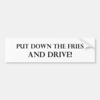 Coloque as fritadas e o Drive.pdf Adesivo Para Carro