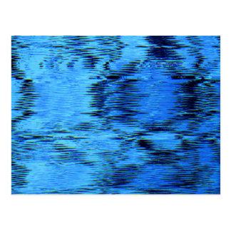 COLORA-ME (~ AZUL de um design da arte abstracta) Cartão Postal