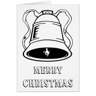 Colora-o você mesmo cartão customizável do Natal