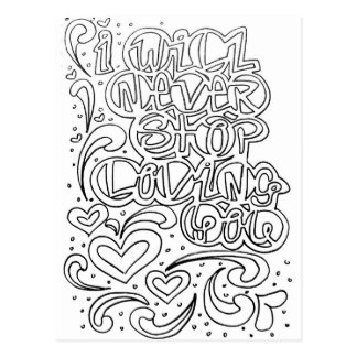 Colora suas próprias citações do amor do cartão