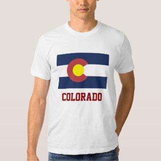 COLORADO: Bandeira do estado de Colorado Tshirt