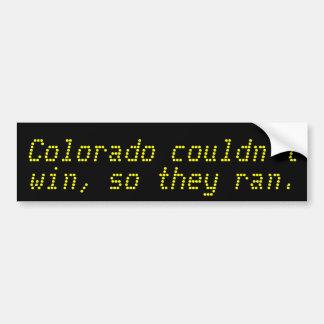 Colorado não poderia ganhar, assim que funcionaram adesivo para carro