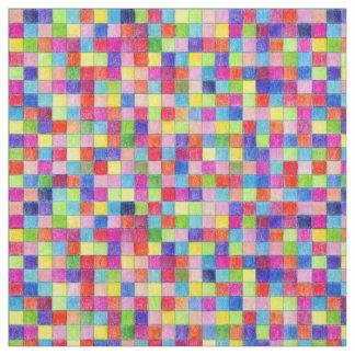 Colorido colorido em quadrados do papel de gráfico tecido