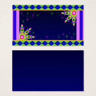 Colorido fino do cartão de visita do caleidoscópio