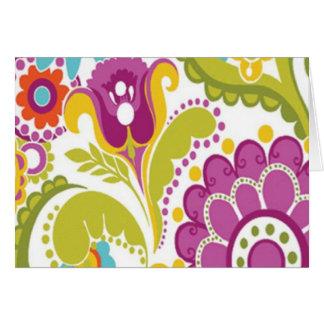 colorido floral do padrão cartão comemorativo