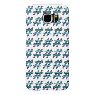 Colorido legal # verde azul & roxo de Hashtag Capas Samsung Galaxy S6