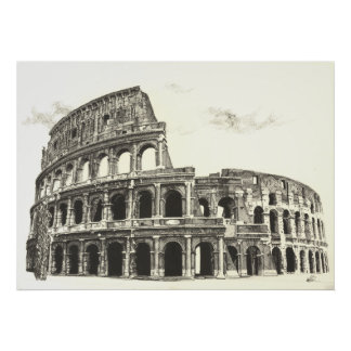 Colosseum - impressão transversal das belas artes