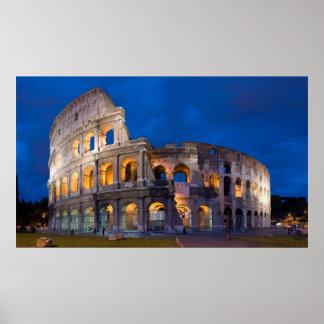 Colosseum no crepúsculo posters