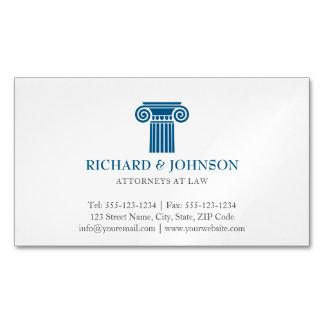 Coluna azul da empresa de advocacia do procurador