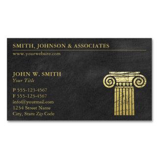 Coluna da empresa de advocacia de advogados do cartão de visitas magnético