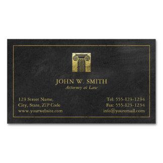 Coluna do advogado do advogado do ouro de justiça cartão de visitas magnético