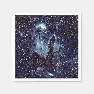 Colunas dos guardanapo de papel da nebulosa da
