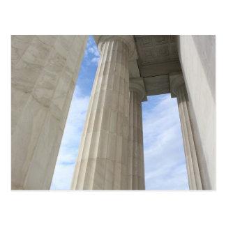 Colunas que cercam o memorial de Lincoln Cartão Postal