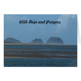 com esperança e orações cartão