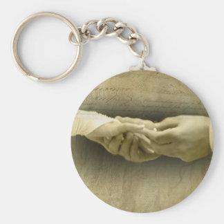 Com este anel, amor romântico do casamento vintage chaveiro
