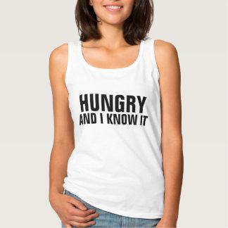 Com fome e mim saiba-o camisola de alças da regata basic