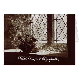 Com simpatia a mais profunda | cartão comemorativo
