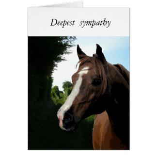 Com simpatia (perda de um cavalo) cartão