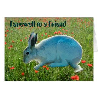 Com simpatia (perda de um coelho) cartao