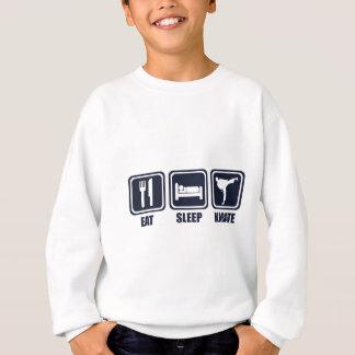 Coma a camisa da repetição T do karaté do sono