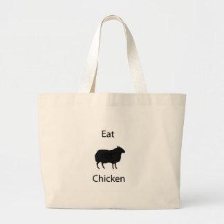 Coma a galinha bolsas para compras