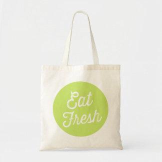 Coma a sacola | retro fresca do mercado da bolsa tote