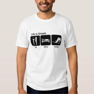Coma, durma, esquie t-shirts